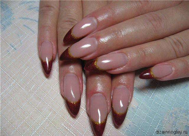 Размер двойка на нарощенных ногтей фото