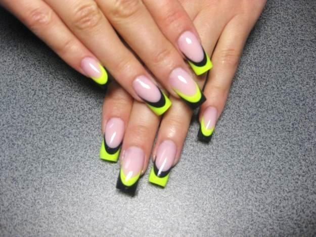 дизайн острых ногтей осень 2012:
