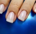 квадратные ногти френч