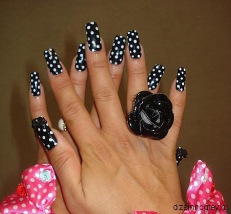 белый дизайн ногтей:
