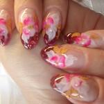 """Красный дизайн ногтей """"Нежность"""""""