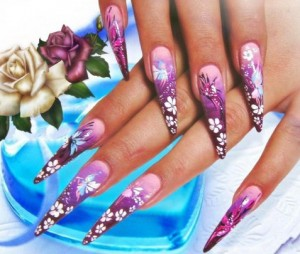 острый дизайн ногтей художественная роспись
