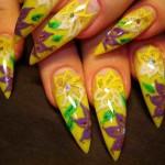 аквариумный дизайн на фото ногтей