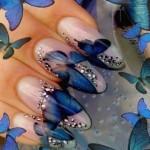 Синий дизайн ногтей фото