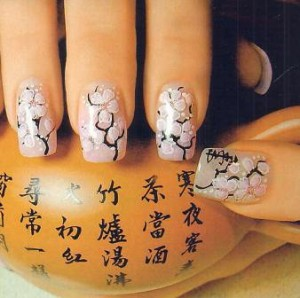 китайские иероглифы на ногтях | Китайские иероглифы на ногтях - очень по фен-шую
