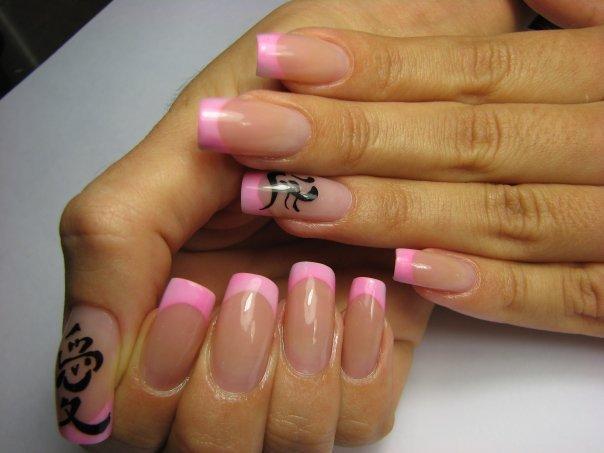Дизайн ногтей фото с иероглифами