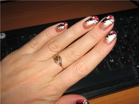 Маникюр на коротких ногтях фото