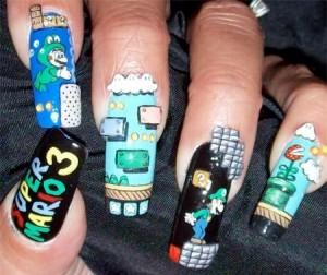 """Игра""""Марио"""" на Ваших ногтях"""