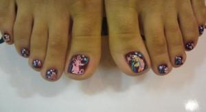 Фото нарощенных ногтей на ногах