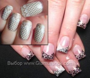 Оригинальные рисунки на ногтях.