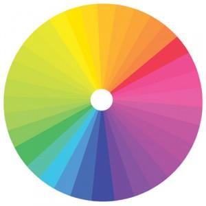 Цветовой круг поможет правильно подобрать сочетания цветов лака основы и трескающегося лака