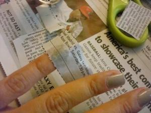 Технология выполнения газетного маникюра фото | Технология выполнения газетного маникюра